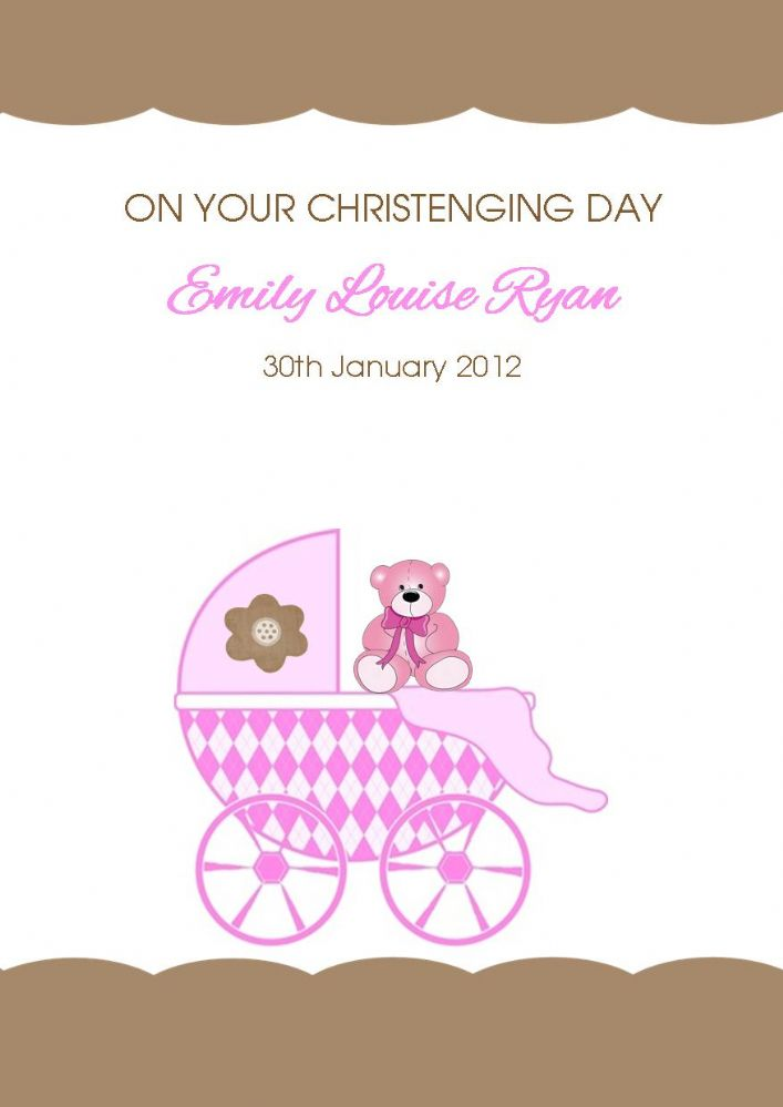 Personalised Girl Christening Card 5